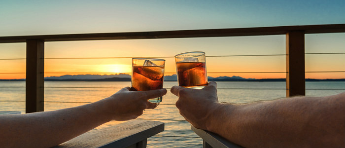 Couple Celebrating on a 10th Anniversary Vacation