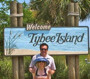 Entrance to Tybee Island, Georgia