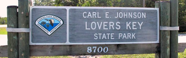 Entry to Lovers Key State Park