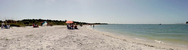Beach on Lovers Key State Park