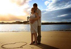 Couple on a Romantic Babymoon