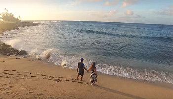Couple on Kauai's North Shore