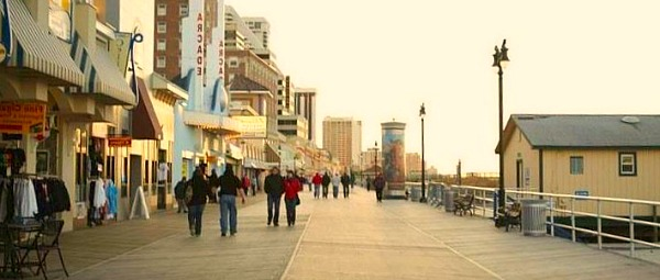Romantic Atlantic City Boardwalk