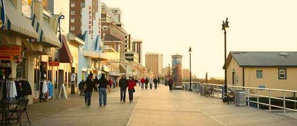 Romantic Atlantic City Boardwalk