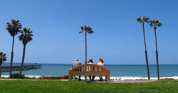 At the Beach in San Clemente, California
