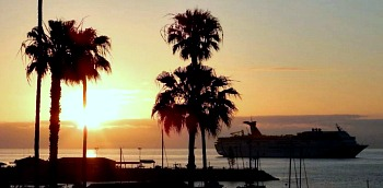Catalina Island Sunset and Cruise Ship