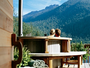 Couple in a Hot Tub at Clayoquot Wilderness Resort