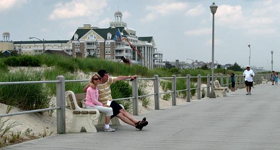 Enjoying the Boardwalk in Spring Lake, NJ