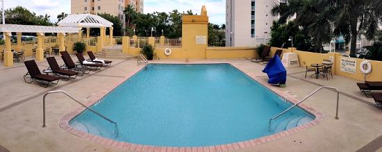Pool at the Hampton Inn & Suites - Miami Airport Blue Lagoon