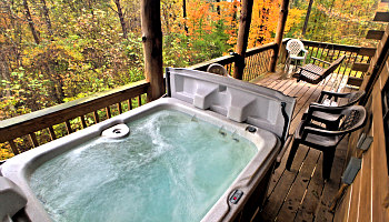 Hocking Hills Cabin Hot Tub