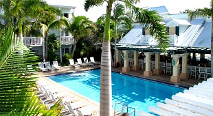 Pool at the Southernmost Hotel in the USA