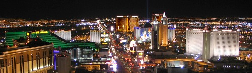 Romantic Las Vegas Hotels at Night