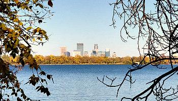 View of Minneapolis from Lake Calhoun