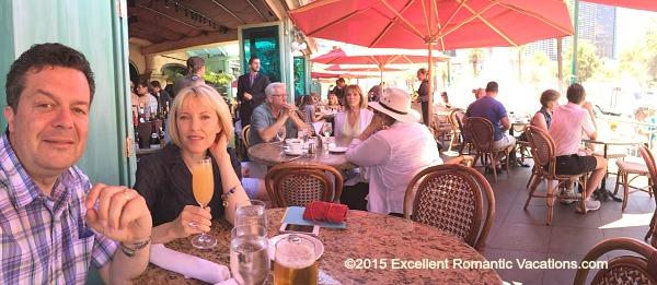 Romantic Mon Ami Gabi Restaurant, Paris Las Vegas