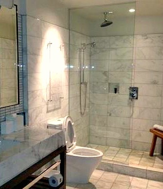New York City Hotel Walk-In Shower for Two