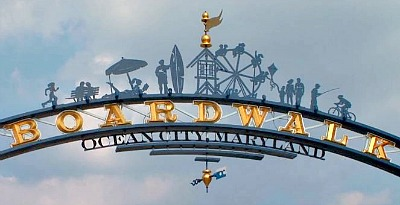 Ocean City Boardwalk Sign