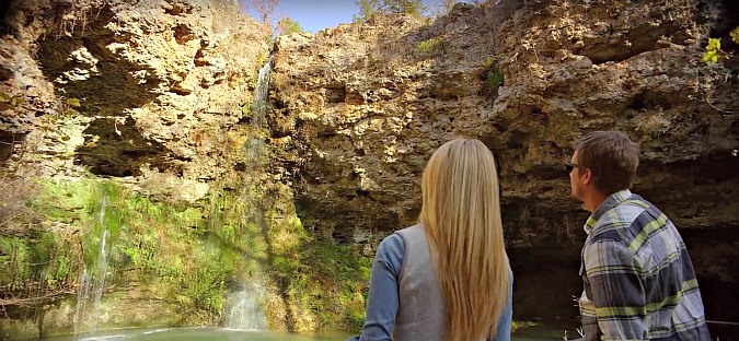 Romantic Oklahoma Waterfalls