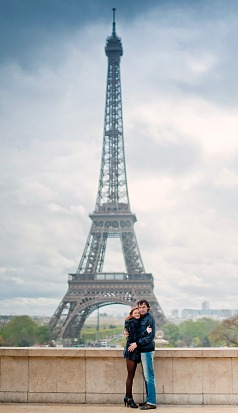 Couple on Honeymoon in Paris