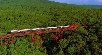 Train Journey in the Ozark Mountains, AR