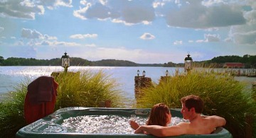 Couple in a Hot Tub, Arkansas