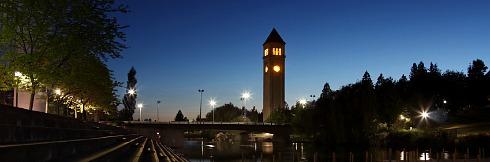 Romantic Spokane, WA in the Evening