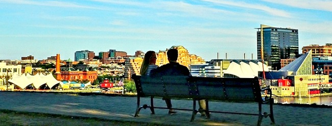 Romantic Spot on Baltimore Harbor