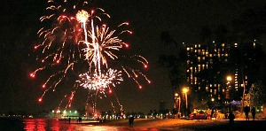 Fireworks at the Hilton Hawaiian Village