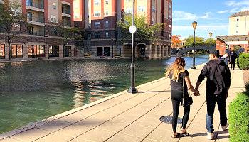 Romantic Indianapolis Canal Walk