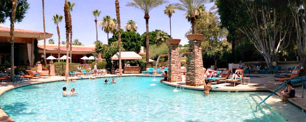 Pool at the FireSky Resort in Scottsdale, AZ