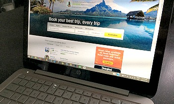 TripAdvisor on a Laptop