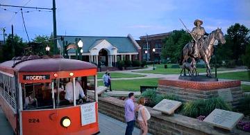 Trolley Stop in Little Rock, Arkansas