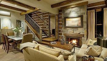 Virginia Cabin Living Room