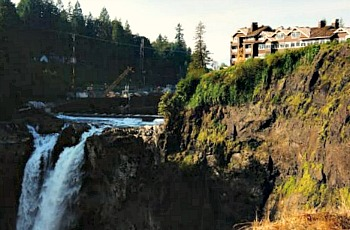 Salish Lodge Overlooking Waterfall