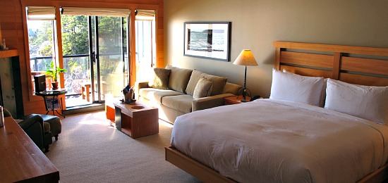 Room at the Wickaninnish Inn, Vancouver Island, BC