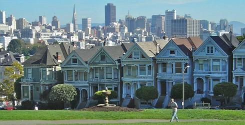 View of Downtown San Francisco from Alamo Square