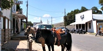 Bandera, TX Horse Parking!
