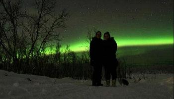 Couple Romantic Northern Lights