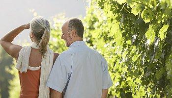 25th Anniversary Couple in California Vineyard