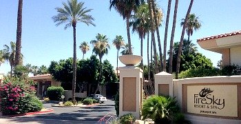 Entrance to the FireSky Resort in Scottsdale