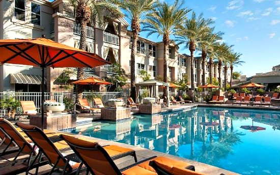 Pool at the Gainey Suites Hotel, Scottsdale AZ