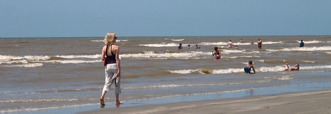 Galveston, TX Beach in May