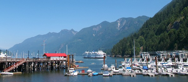 Beautiful Horseshoe Bay on a Sunny Day, near West Vancouver, BC