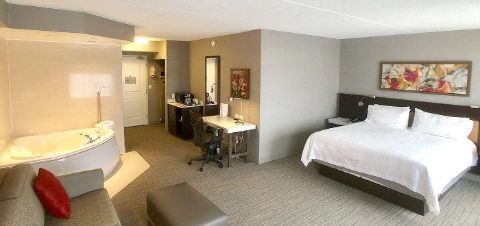 Mississauga ON Hilton Garden Inn Whirlpool Suite
