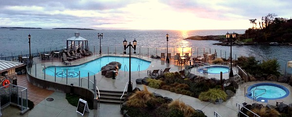 Mineral Pools at the Oak Bay Beach Hotel, Victoria BC