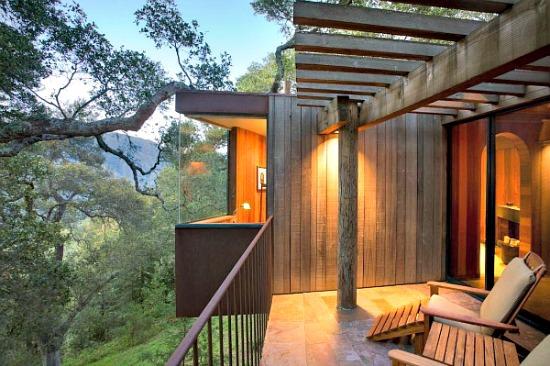 Tree House Room at the Post Ranch Inn, Big Sur CA
