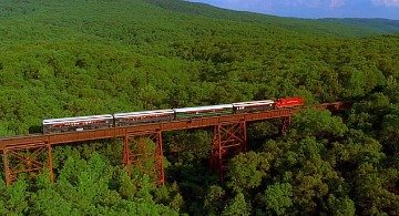 Train Journey in the Ozark Mountains, AR