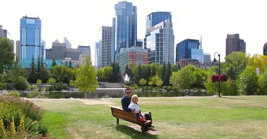 Romantic Getaway in Calgary - Princes Island Park