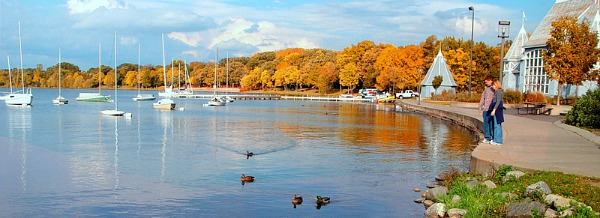 Romantic Lake Calhoun in Minneapolis, Minnesota