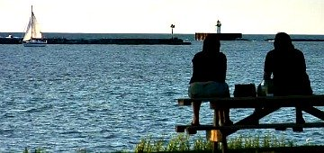 Couple on Lake Erie, OH