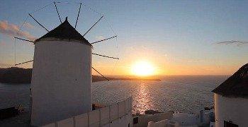 Romantic Santorini Sunset